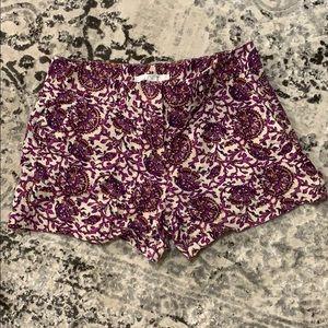 Purple, white, and yellow Ann Taylor Loft Shorts 2